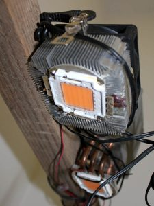 LED diode attached to a CPU cooler